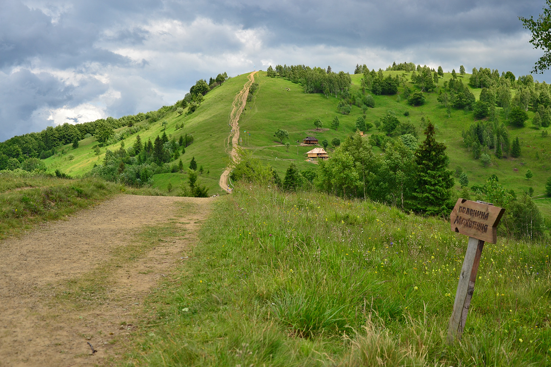 гора Маковица от Яремче на Горганы